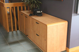 Office Furniture - Light Maple Wood