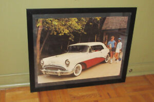 LARGE 1954 BUICK SKYLARK IN 1985 - FRAMED PICTURE - VIELLE AUTO