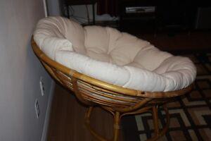 Chaise Papason avec coussin beige
