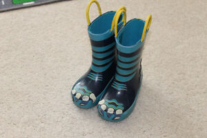 Children's Place Size 6 Rubber Boots - Blue Monster