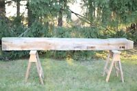 Barn beam, white (yellow) pine lumber. Fireplace mantel