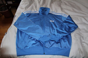 Blue Adidas large Track Jacket in excellent condition