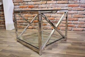 Couchtisch IVY, NEU, Stahl & Glas Beistelltisch Designtisch UVP 298 € /REDUZIERT