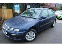 Rover 25 1.6 Blue 5 Door FSH Low Mileage Automatic Leather Seats
