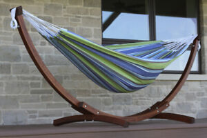 Wood Stand and Hammock Combo