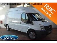 2013 Ford Transit 2.2TDCi LWB HR 6 SPEED 1 OWNER FROM NEW EXCELLENT VAN