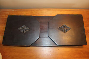 Vintage Wooden Book Holder with Chip Carving London Ontario image 5