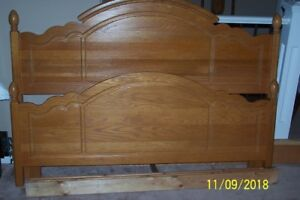 Solid Oak Queen Size Bedframe, just ad your Mattress