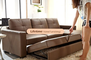ELEGANT, COMPACT,HIGH QUALITY Genuine leather sectional sofa bed
