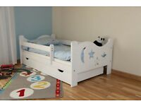 BRAND NEW NICOLAS KIDS BEDS TODLER BEDS WITH DRAWER AND MATTRESS