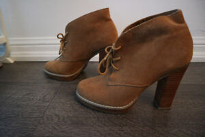 Aldo Suede Lace up Booties size 7