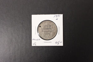 Canada 1871 50 Cent Coin