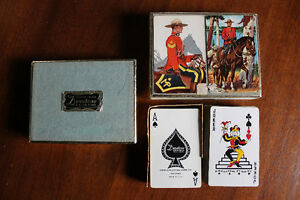 Vintage RCMP PLAYING CARDS - double deck