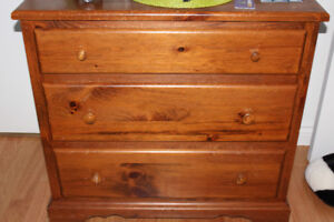 Solid Pine Bedroom Set, Dresser, Mirror and Side Table