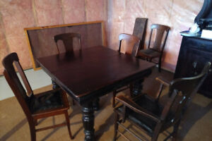 Table and chairs and hutch for sale