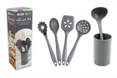Kitchen Utensils Set Cooking Tools Gadgets 6 Piece including Holder Accessories