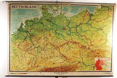 Lehrtafel Schulwandkarte Deutschland Wandkarte Rollkarte Unterricht