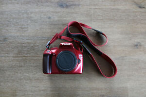 Canon Rebel T3 DSLR Camera Special Edition - Red