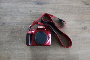 Canon Rebel T3 DSLR Camera Special Edition - Red