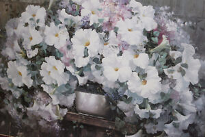 picture glass/gold framed flower print West Island Greater Montréal image 2