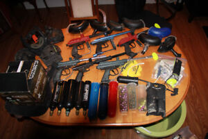 Paintball guns and accesories