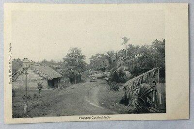 early 1900s Antique Postcard Saigon Vietnam Paysage Cochinchinois