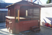 Hot tub with bar and Gazebo all in one