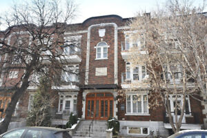 Grand appartement plateau Mont-Royal 8-1/2