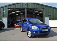 2006 KIA SPORTAGE2.0 DIESEL XS CRDI ESTATE 4WD BLUE MANUAL