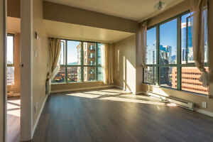 Unfurnished DT/yaletown 22 FLR 2BR/2Bath+Sol CityOcean view+park