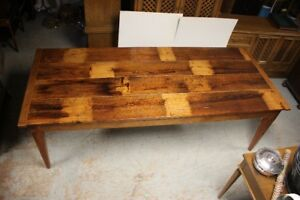 8 Ft long True Harvest Table $695 (barnboard)