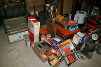 Lots of vintage car stuff and tools