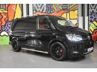 VW TRANSPORTER T6 T32 SWB 2.0TDI 204PS DSG PANEL VAN HIGHLINE SPORTLINE PK BLACK