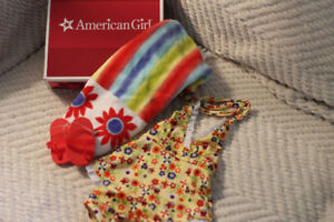 American girl beach outfit with box