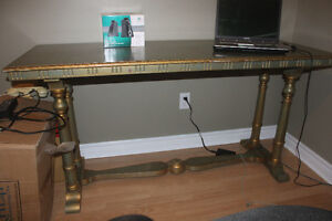 Antique Library Table from Maine (use as desk or island etc. )