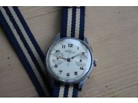 1940's Nicolet chronograph wrist watch Landeron 39 vintage