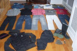 Vêtements garçon taille 14 ans manteau et bottes