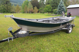 Power Drifter / river boat   16 ' welded aluminum