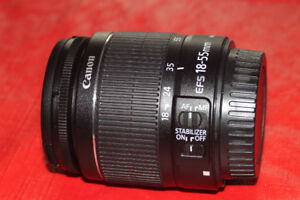 canon EF S 18 55 IS zoom for canon aps-c dslr