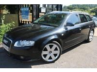 Audi A4 Avant 2.0 TDI S LINE AVANT 140PS Black Estate 5 Door Sat Nav Leather Ful