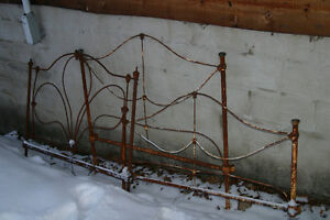 Wrought Iron Headboards and Footboard  $40 each