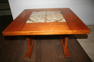 TEAK &TILE COFFEE TABLE