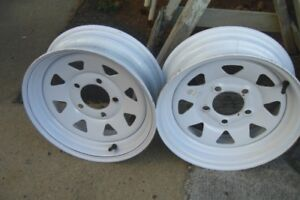 TWO BRAND NEW 13 INCH TRAILER RIMS