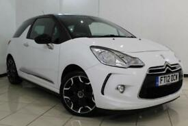 2012 12 CITROEN DS3 1.6 DSTYLE PLUS 3DR 120 BHP