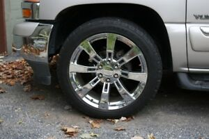 "22 "" DENALI CHROME RIMS & TIRES"