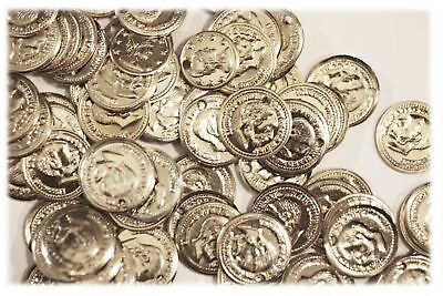 """Aluminum Jingle Coins Belly Dancing Jewelry Craft Costume 12mm ( 1/2"""" ) Silver"""