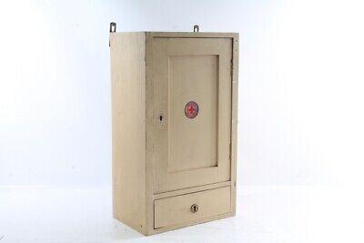 Old Wooden Cabinet Medicine Cabinet Wall Cabinet Doctor Stehschrank Vintage