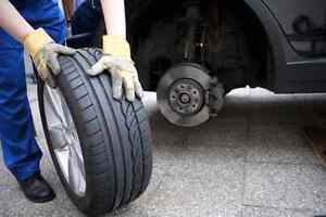 Mobile tire change service for only $29.99