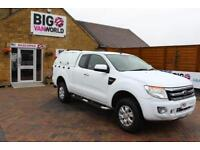 2014 FORD RANGER TDCI 150 XLT 4X4 SUPER CAB WITH TRUCKMAN TOP PICK UP DIESEL