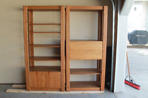 Solid Oak Bookcases/Cabinets